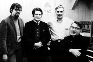David Borden, Gordon Mumma, Robert Moog, and David Tudor