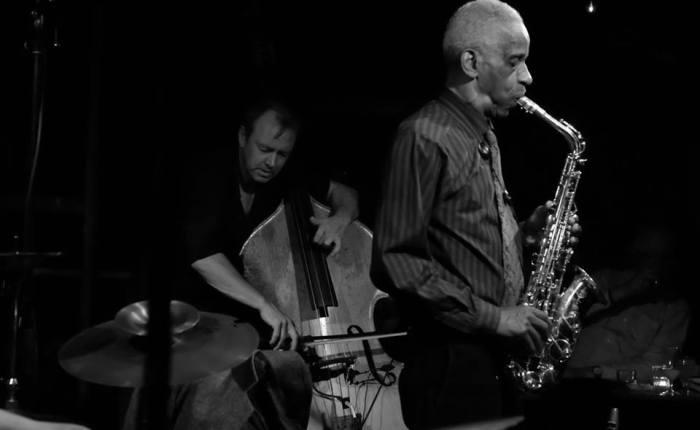 photos from roscoe mitchell + john edwards + mark sanders @ Cafe Oto 10/27/15 +10/28/15