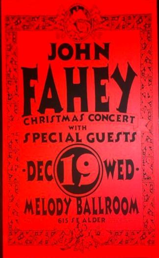 John-Fahey-Melody-Ballroom-Portland-Christmas-Concert-Poster