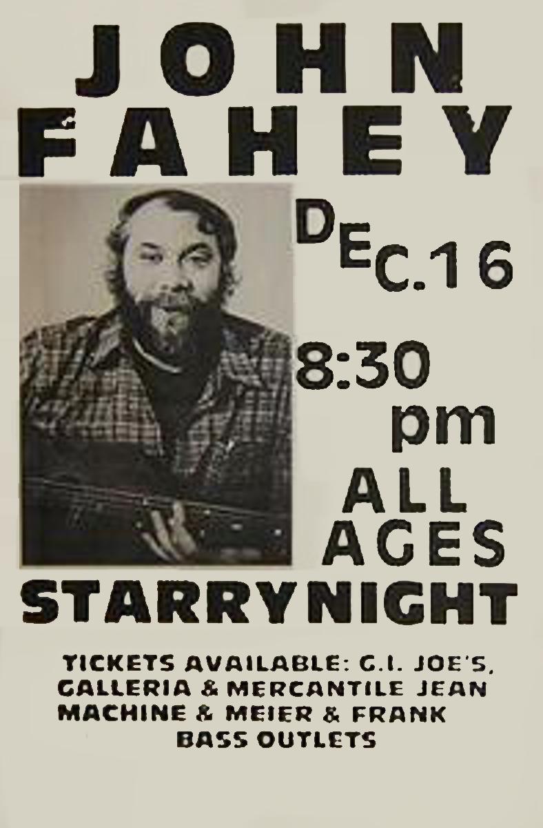 John-Fahey-Rare-1980s-Portland-Concert-Poster