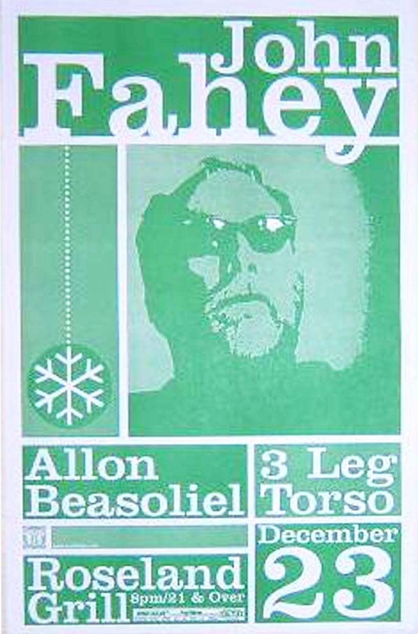 John-Fahey-Rare-Portland-Oregon-Concert-Poster