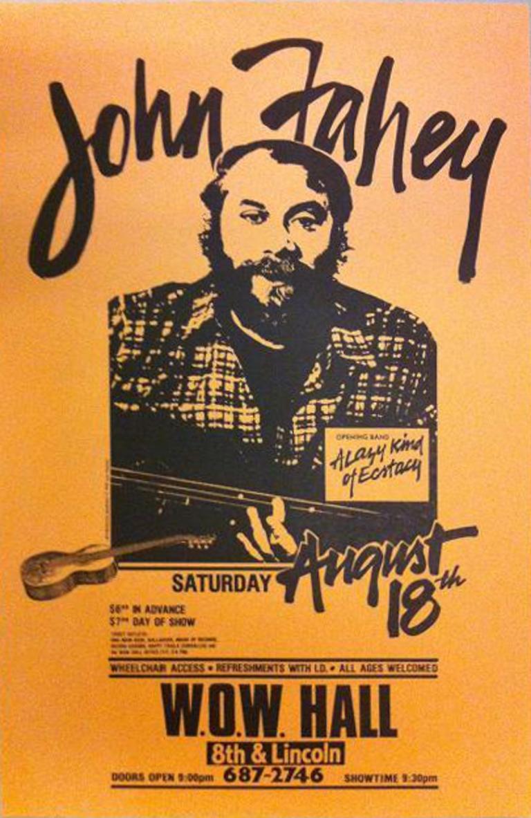 John-Fahey-WOW-Hall-Eugene-Oregon-Rare-Original-Concert-Poster